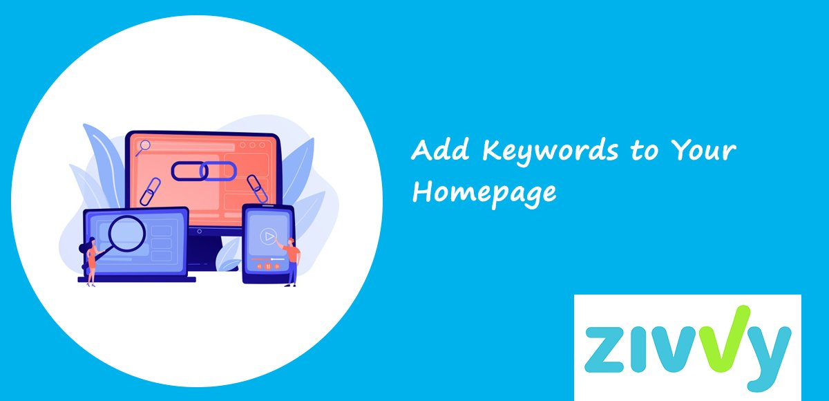 Add Keywords to Your Homepage